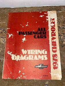 1978 Chevrolet Wiring Diagram Manual Passenger Cars, ST ...