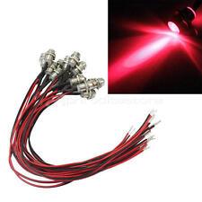 20x Universale Luci  LED Indicatori Lampadine Rosso Cruscotto Auto Moto Camion