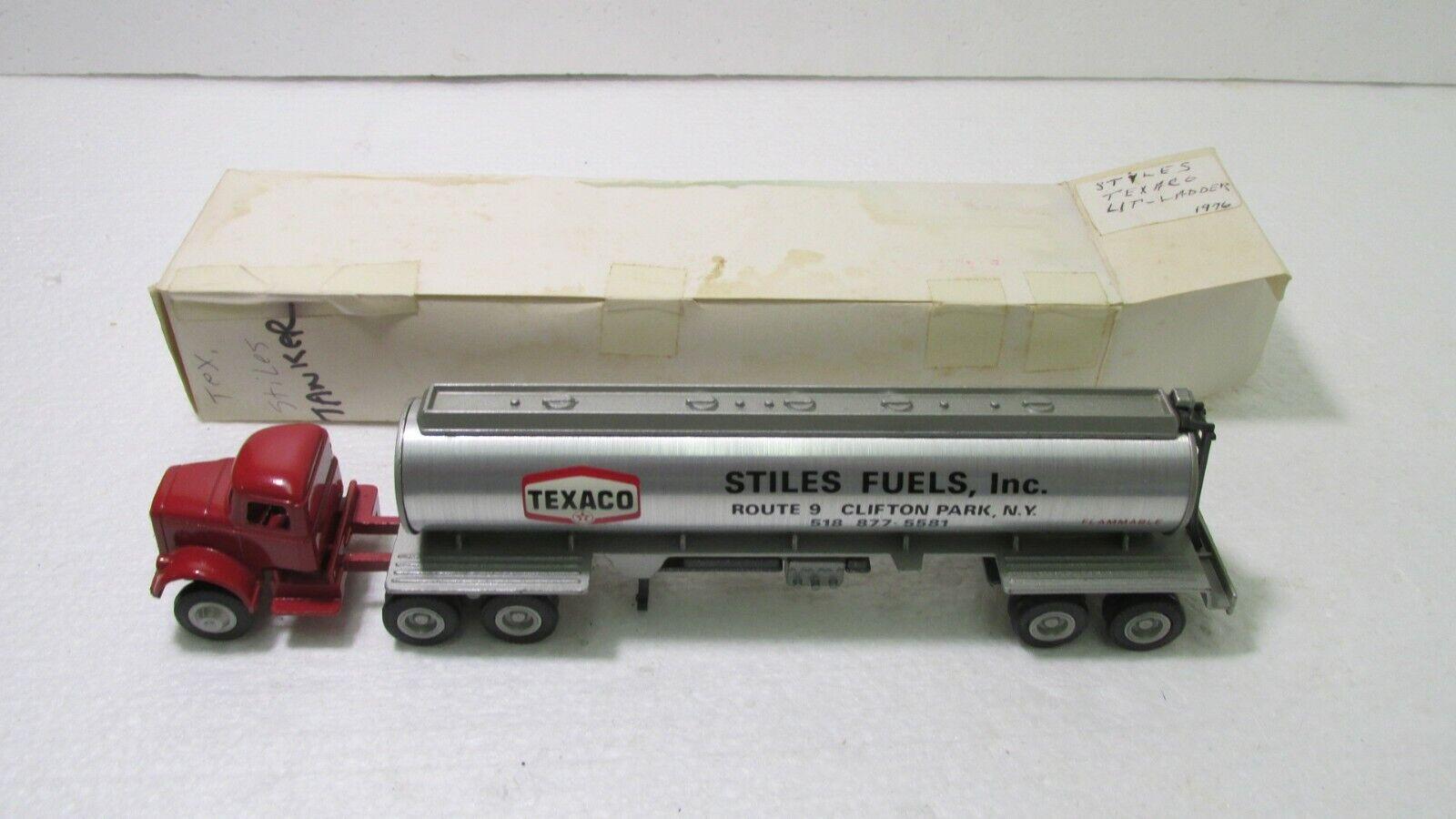 60% de descuento Winross Modelos Texaco Stiles Stiles Stiles combustibles petrolero remolque de tractor 1976 Diecast dc2706  en promociones de estadios