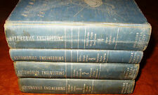 1933 34 36 35-46 47 48 49 Automobile Engineering 4 Vols Cadillac Ford Olds Chevy