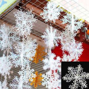 30Pcs-Christmas-White-Snowflakes-Xmas-Tree-Decorations-Ornaments-11CM-2018-Top