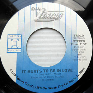 Bobby Vinton Pop Rock Cover 45 Gene Pitney S It Hurts To Be In Love