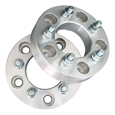 """5x114.3 Wheel Adapters 1/"""" Thick 12x1.5 Lug Spacers x 2 5x4.5 to 5x4.5"""