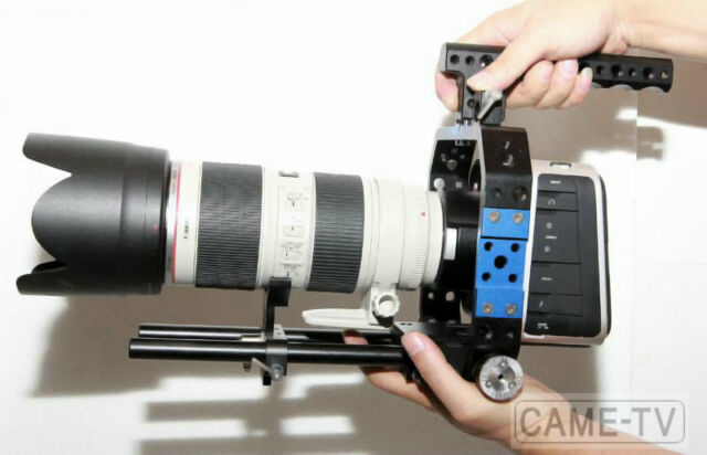 BMC Cage for BlackMagic Design Cinema Camera BMCC 15mm Rail 300mm long