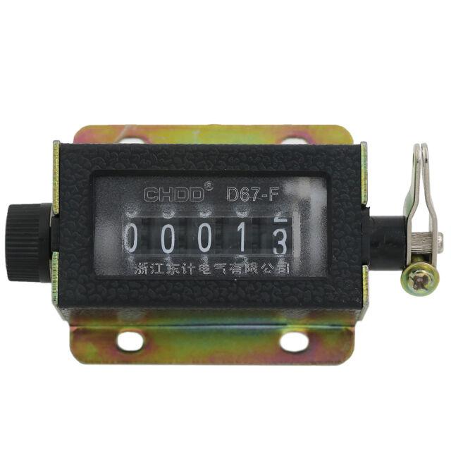 Counter 0~99999 D67-F Mechanical New 5 Digit Tally Manual Hand Click FUNIUSEC