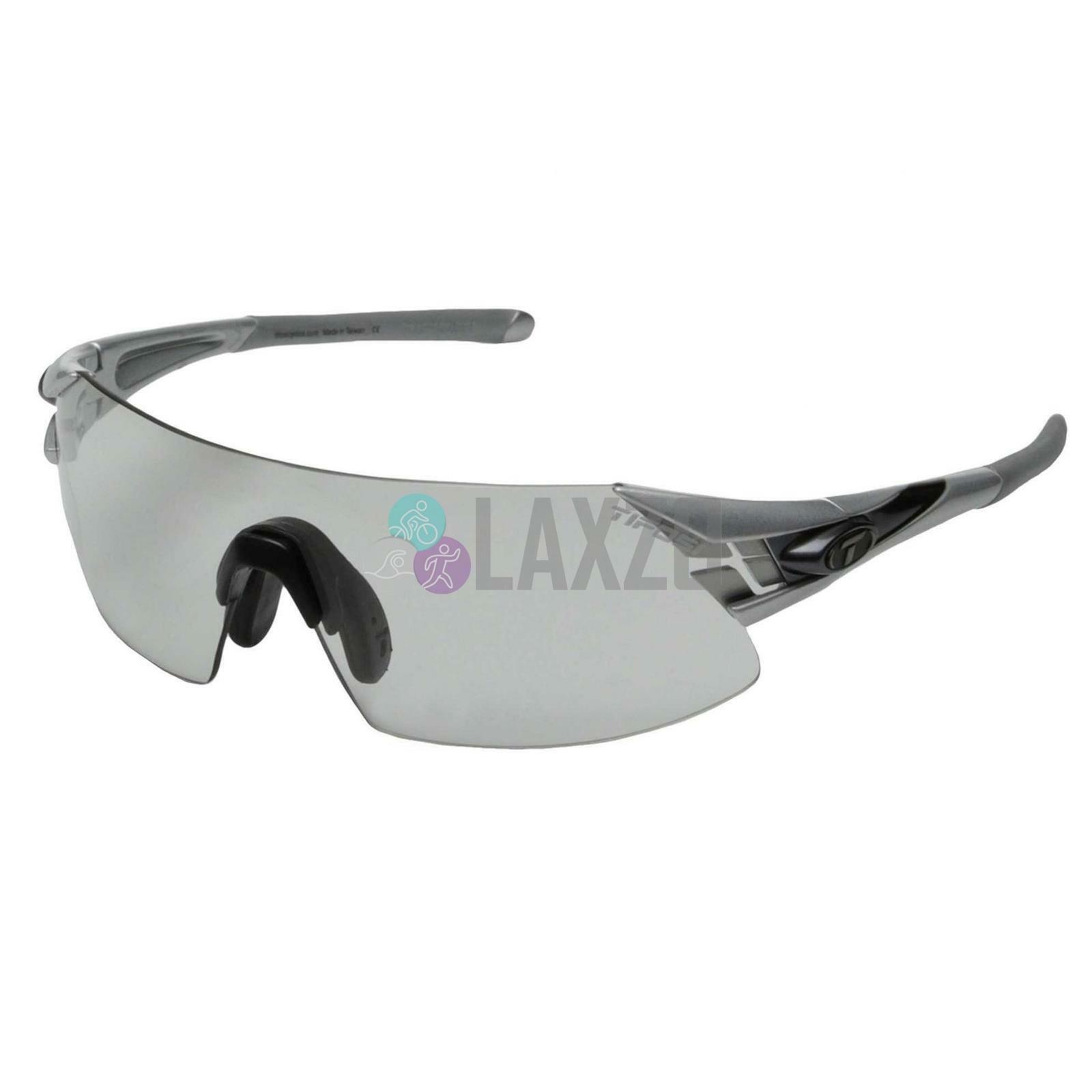Tifosi Podium XC Bike Cycle Silber Gunmetal Fototec Light Night Lens Sunglasses