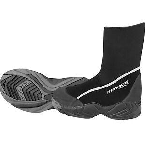 Mirage PREMIUM Zipless Neoprene Wetsuit Pull On Dive Booties B017 Size 6 - 13