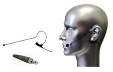 Black Earhook Mic Compatible with Sennheiser 3.5 mm Lock Screw Wireless Cardioid