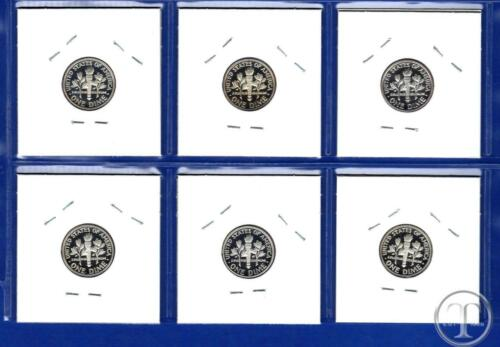 2013 S Through 2018 S Roosevelt Dime Set-Gem Proof-IN STOCK-6 Proof Dimes
