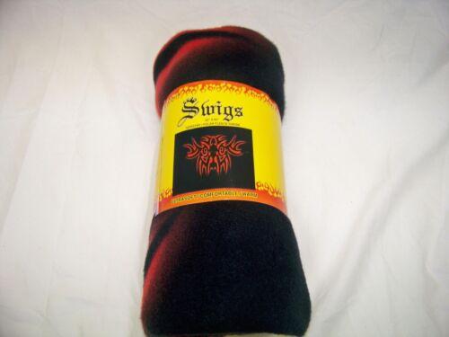 "nEW Swigs 60/""x50/"" Tribal Tattoo Polar Fleece Throw Blanket Black// Red"