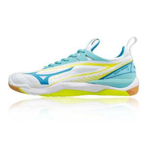 Détails sur Mizuno Femmes Bleu Blanc Wave Mirage 2 Chaussures Handball Léger Microporeux