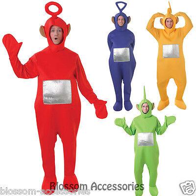 4  Licensed Teletubbies Teletubby Jumpsuit Mens Fancy Dress Adult Costume C888