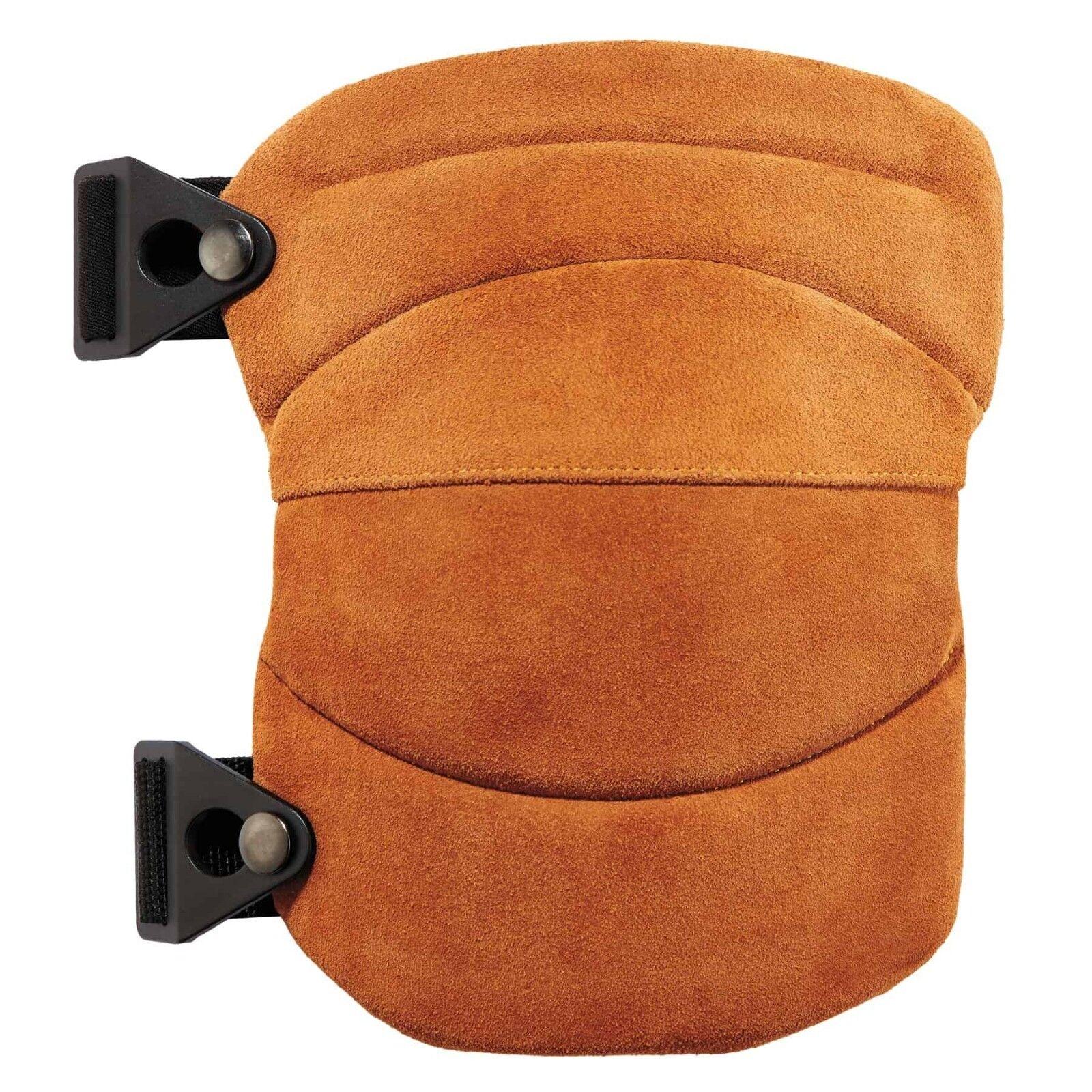 Ergodyne ProFlex 230LTR Leather Knee Pads - Wide Soft Cap, 18232, FREE SHIPPING