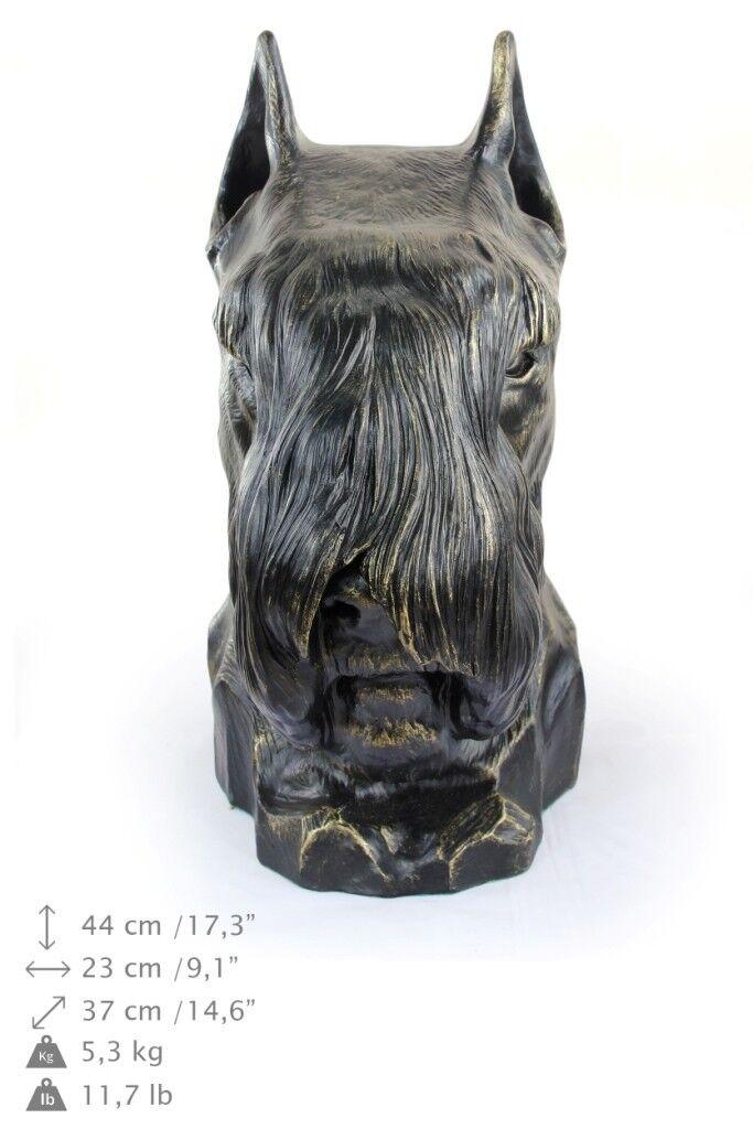 Schnauzer - testa di cane, figurina in resina Art Dog IT