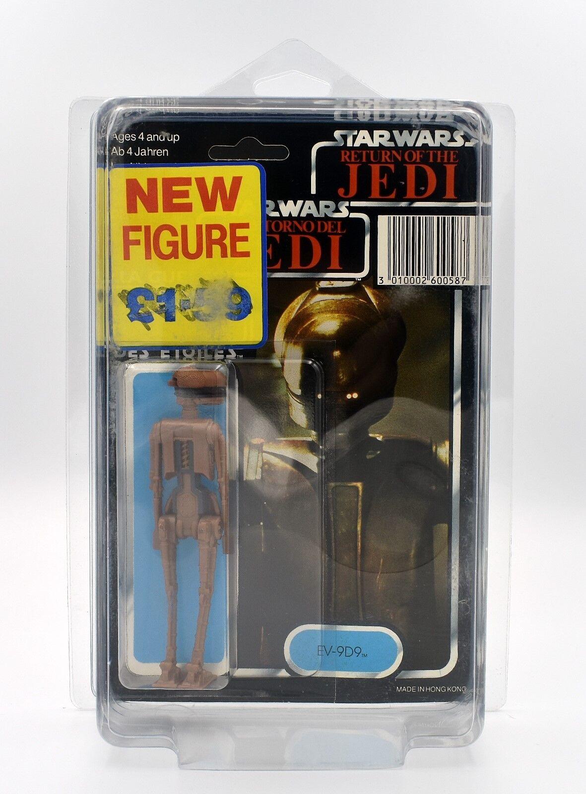 Star Wars le retour du jedi tri-logo (1983) - EV-9D9 action figure en arrière