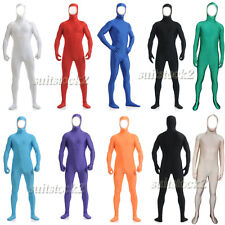 Face out Lycra Spandex Skin Suit Catsuit Halloween Zentai Bare face Costumes