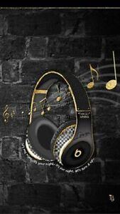 PLAQUE MÉTAL MUSIC CASQUE BEAT   30X20 CM
