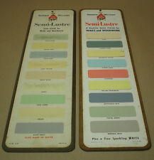 Vintage Paint Advertising Color Chip Sign- Sherwin Williams SWP Semi Lustre