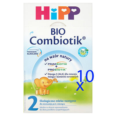 Alert Hipp Organic Baby Formula Stage 2 (6-10months) 10 Boxes - Shipping Worldwide Promote The Production Of Body Fluid And Saliva
