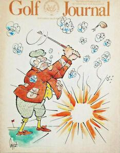 Golf Journal Magazine Nov/Dec 1985 Edwin Lepper Cartoon Cover - EX