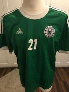 Details zu ADIDAS DFB REUS Trikot EM 2012 ORIGINAL grün Deutschland Größe XL (Dortmund)