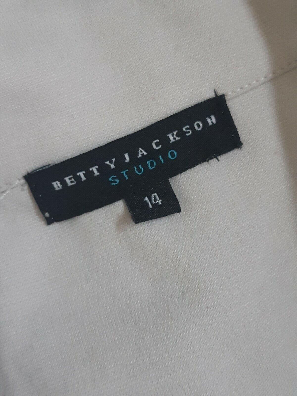 BETTY JACKSON STUDIO White Buttoned Floral Print Casual Jacket UK 14 EU 42 US 10