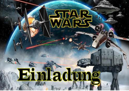 6 Umschläge Kindergeburtstag T8 Star Wars Einladungskarten 6er Set