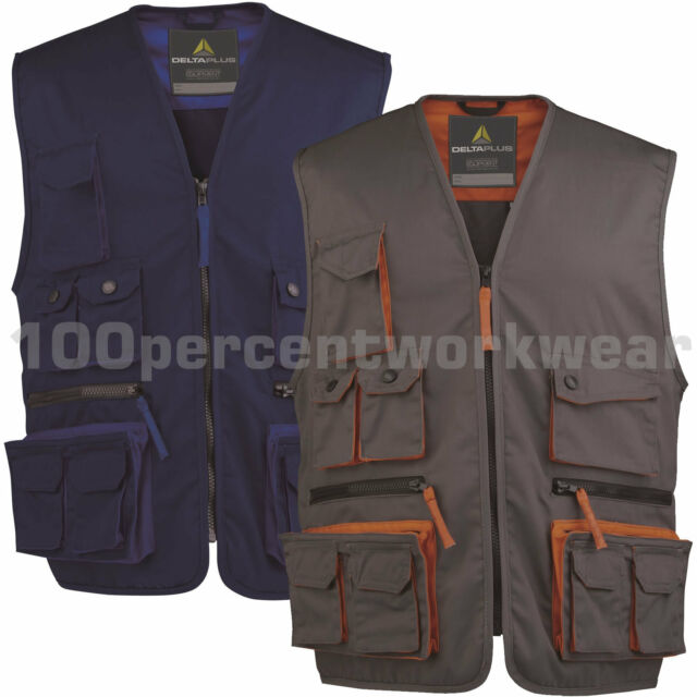 Delta Plus Panoply M2GIL MACH2 Mens Work Gilet Tool Vest Bodywarmer Multi Pocket