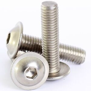 Free UK Delivery 8mm Flanged Button Head Bolts // Screws 4 Pack M8 x 40mm A2 Stainless Steel Socket Allen Key Flange Dome Head Bolt