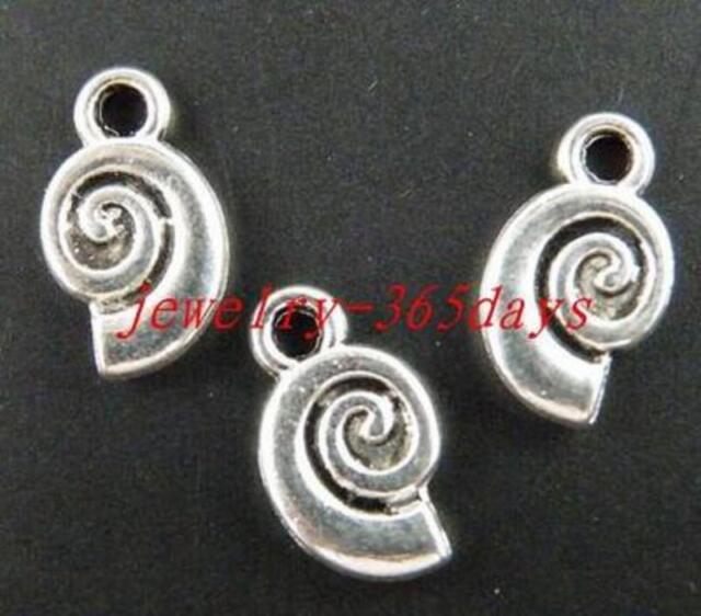 120//300pcs Tibetan Silver 2Sides Heart Charms 12x9.5x2mm zn61893