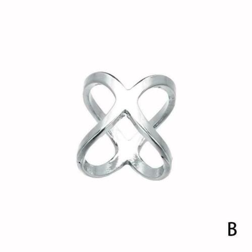 Cross Scarf Ring Buckle Brooch Smooth Tie Scarf Buckle Buckle Silver Shawl T6T5