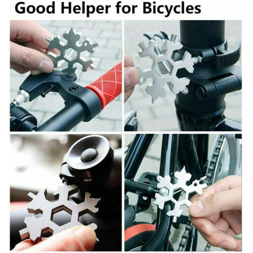 18-in-1 Snowflake Multi-Tool Stainless Steel Multitool Card Combination Compact