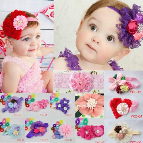 Baby Kids Girls Big Flower Hairband Soft Elastic Headband Hair Accessories Band