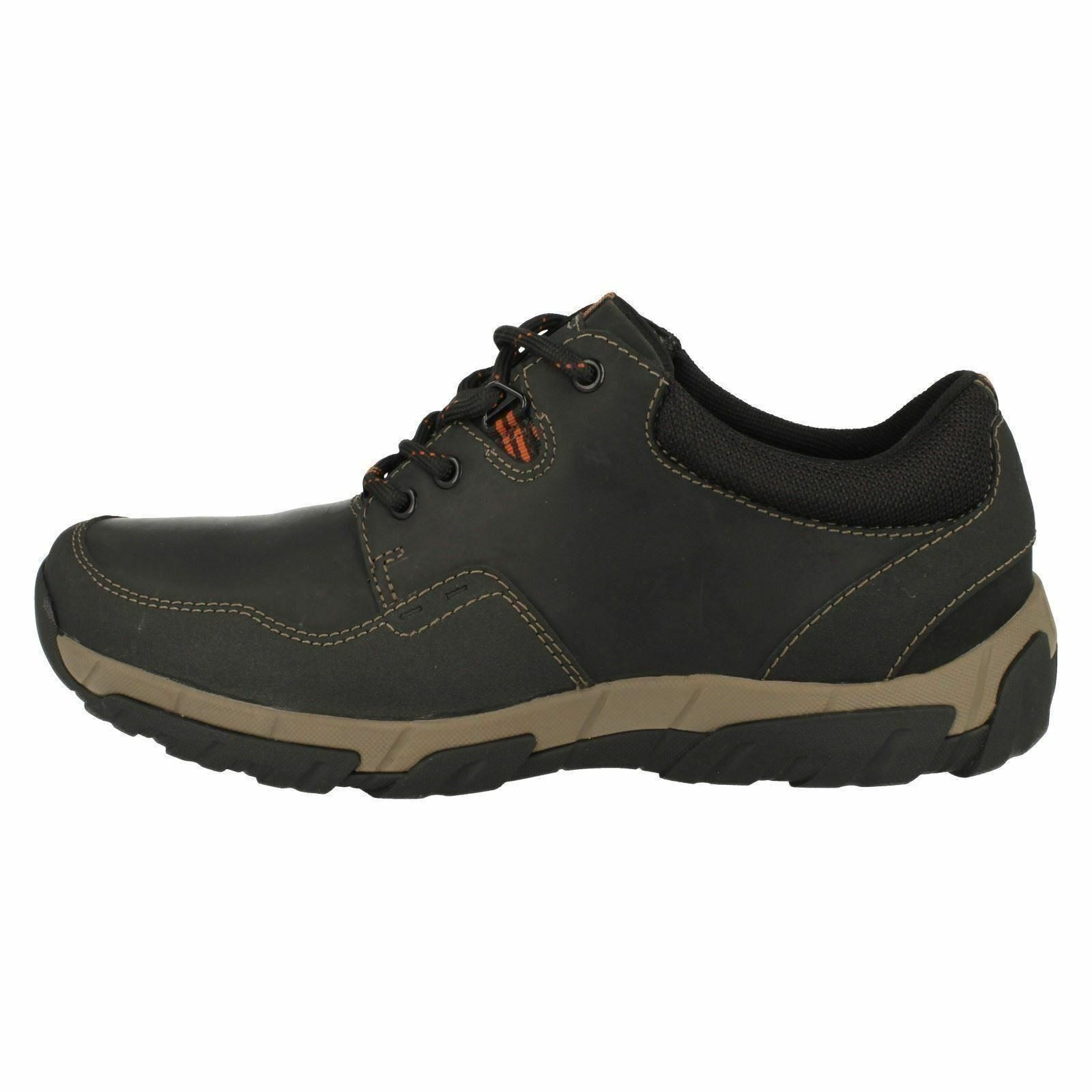 Clarks Walbeck Edge schwarzes Leder Herren Schuhe