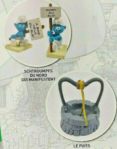 2 schtroumpfs le puits  village des Schtroumpfs N°12 Neuf figurine