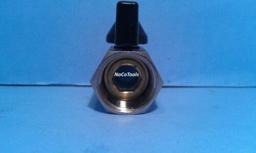 Metal Ball Valve 1//2 Male Female NPT Coupler Air Fluid Fuel Gas Oil Steam Water
