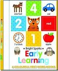 Early Learning - 6 Colourful First Word Books by North Parade Publishing (Board book, 2015)