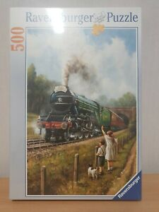 Ravensburger Watching The Trains By Kevin Walsh Jigsaw (500 Piece Puzzle)