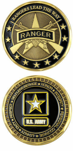 Us Army Rangers Lead The Way Ranger Challenge Coin Ebay