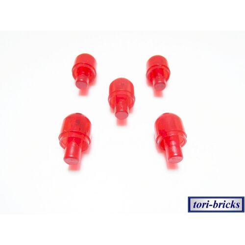 Leuchte transparent rot 5 Stück »NEU« # 58176 Lego Stein 1x1 rund mit Pin
