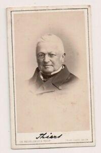 Vintage-CDV-Adolphe-Thiers-President-of-France-Reutlinger-Photo