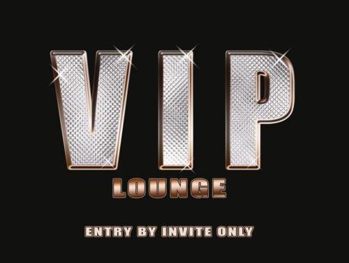 Bars /& Restaurants Bedroom Doors Access medium Metal Tin Sign VIP Lounge