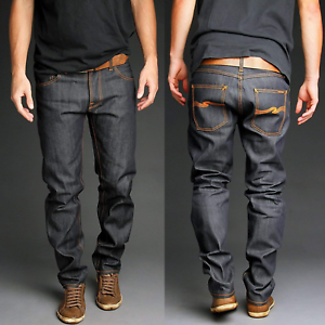 Nudie-Herren-Regular-Tapered-Fit-Raw-Jeans-Sharp-Bengt-Dry-Dirt-Organic