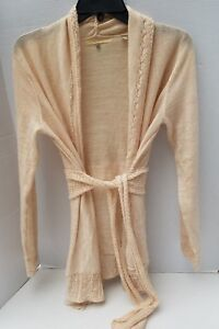 M People Knotted Free Chic Soft Shabby Cream Sweater Tie Strik Womens Knited Uld aE7wqg
