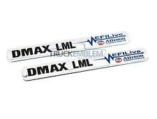 "2 New  BLACK & CHROME Duramax Diesel ""DMAX LML"" Allison EFI LIVE BADGES SET PAIR"