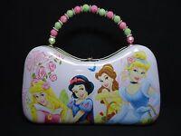 1 Disney Princess Metal Purse With Buckle & Bead Handle Light Pink & Green 22460