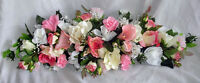 24 Inch Gorgeous Swag Pink Centerpiece Silk Wedding Flowers Arch Decor Roses