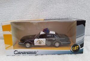 Cararama-Ford-Crown-Victoria-POLIZIA-STRADALE-1-43-tutte-le-ex-negozio-STOCK