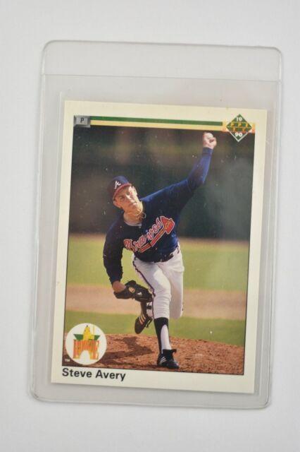 1990 Upper Deck Steve Avery Atlanta Braves 65 Baseball Card For Sale Online Ebay