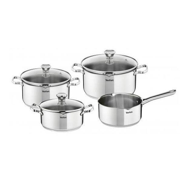 Tefal a705a8 Duetto casseroles 7 pièces Casseroles Pot Lot de Casserole avec couvercle